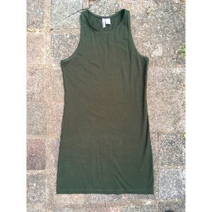 H&M forest green bodycon dress (M)